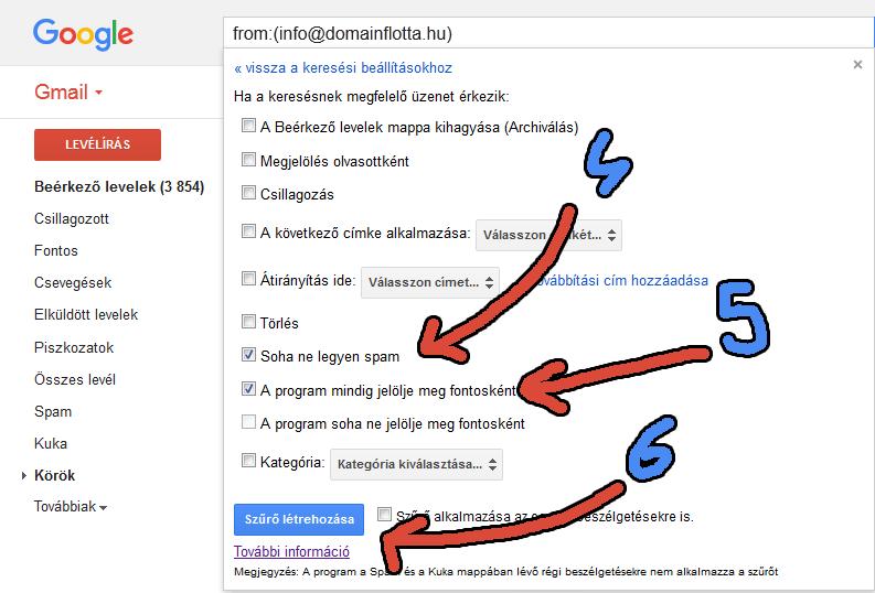 Gmail első lépés